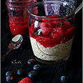 Red overnight porridge