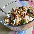 Salade fraîcheur à la courgette