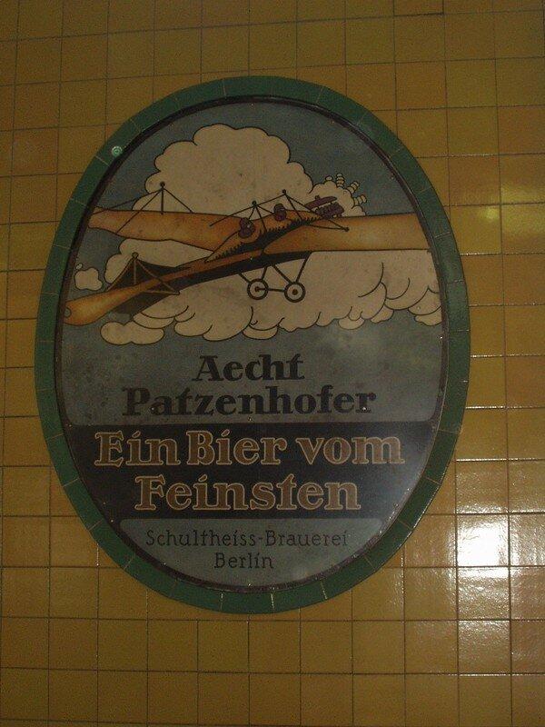 Publicité sur faïence (Wittenbergplatz)