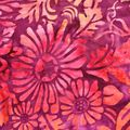 batik fleurs violettes