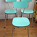 Trio de chaises en formica
