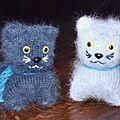 Tricot Chats gris clair & gris foncé 076