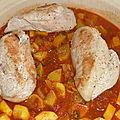 Tajine de poulet aux produits de la mer,recette d'alica.