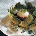 Cœurs d'artichauts aux œufs mollets
