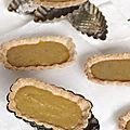 Barquettes au curd abricot-datte-lavande.....
