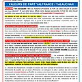 Tract : valeurs de part valfrance/valauchan: inacceptable !