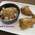 Poulet coco aux épices douces