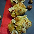 Petits cakes aux endives-roquefort-noisettes
