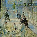 Manet, la rue Mosnier aux paveurs