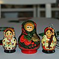 Mes Matriochka (<b>poupées</b> <b>Russes</b>)