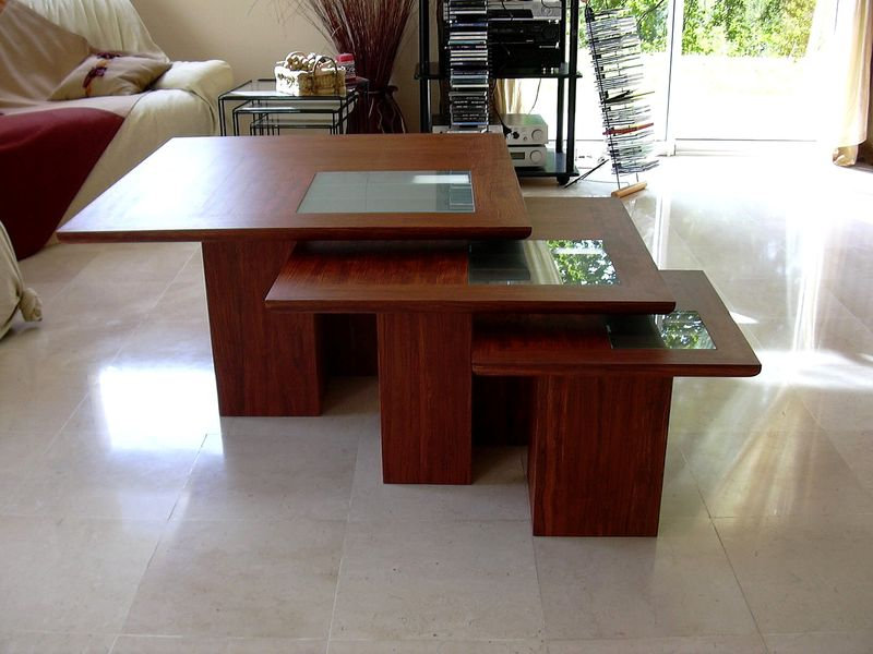 Table Gigogne Photo De Tables Basses Au Fil Du Bois