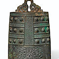 A finely cast <b>bronze</b> <b>bell</b>, bo, Late Spring and Autumn period, 6th–5th century BC
