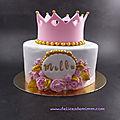 Un gâteau et des cupcakes pour une baby <b>shower</b>