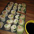 Sushis végé & sushis au thon cuit (ou comment combler une femme enceinte et les réfractaires aux sushis au poisson cru !)