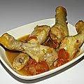 Pilons de poulet aux épices cajun et aux tomates cerise ( sac cuisson au four )