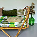 LIT CORBEILLE <b>DAY</b> BED ROTIN