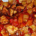 Mon 1er repas chinois ~ poulet sauce aigre douce