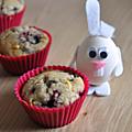 Muffins aux fruits rouges et au chocolat blanc