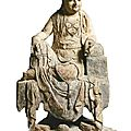 A carved and <b>polychrome</b> <b>wood</b> figure of Guanyin, Song-Yuan dynasty (960-1366)