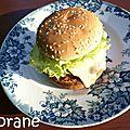 Hamburger de lentilles au maroilles