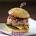Burger mangue-saumon