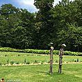 Rencontre accueillante à l'entrée du parc floral d'orléans