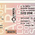 David Byrne - Mercredi 25 Mars 2009 - Olympia (Paris)