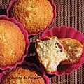 Muffin à la noix de coco et cranberries