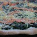 Pizza épinards et saumon fumé