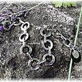 Bracelet sequins Nacre et Inox