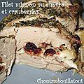 Filet mignon au chèvre et cranberries