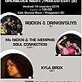 Le 18 nov. 2016 : l'openblues-night avec 3 concerts pour 1 soirée …