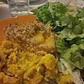 Crumble salé de butternut & noisettes