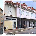 Quartier Drouot - Agence m2A Habitat et une boulangerie...