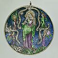 Amulet of a knight with Mother of God and Christ <b>the</b> <b>Judge</b>, 1320 - 1330, Oberrhein