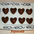 Fondant coeur chocolat