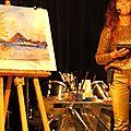 Nouvelle performance de l'artiste peintre et chanteuse Lucia Mamos-Moreaux