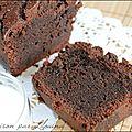 Cake chocolat cacao fondant au sirop...