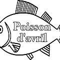 <b>Coloriages</b> poisson avril