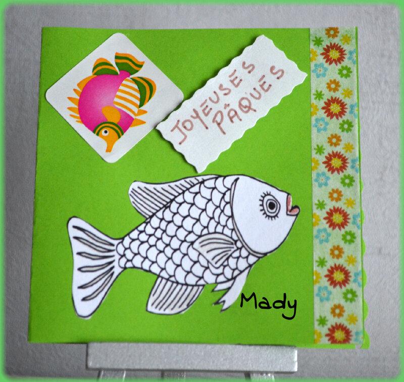 Pochette poisson de pâques