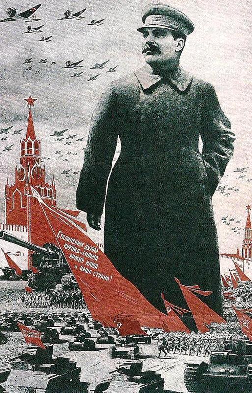 affiche culte de la personnalité Staline