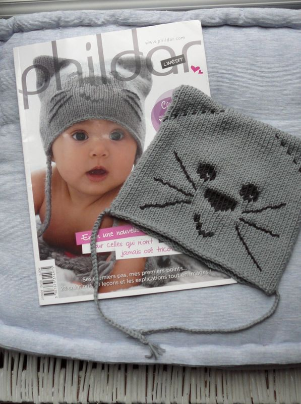 tricoter un bonnet chat