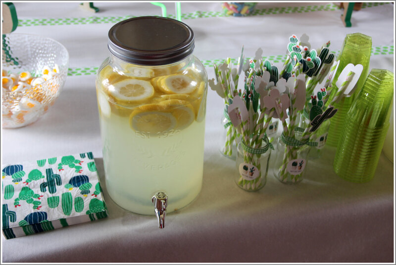 déco baptême pablo citron