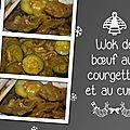 Wok de boeuf aux courgettes et au curry