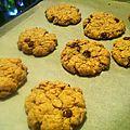 Cookies beurre de cacahuète/pépites de chocolat (végan)