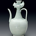 A very rare carved Qingbai 'Phoenix' ewer, Southern Song Dynasty (1127-1279)