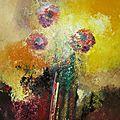 composition florale 40x50