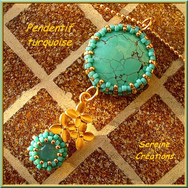 Cabochon turquoise recto