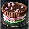 Gâteau : mare aux cochons.