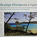 La plus belle plage d'europe est en face de la londe les maures